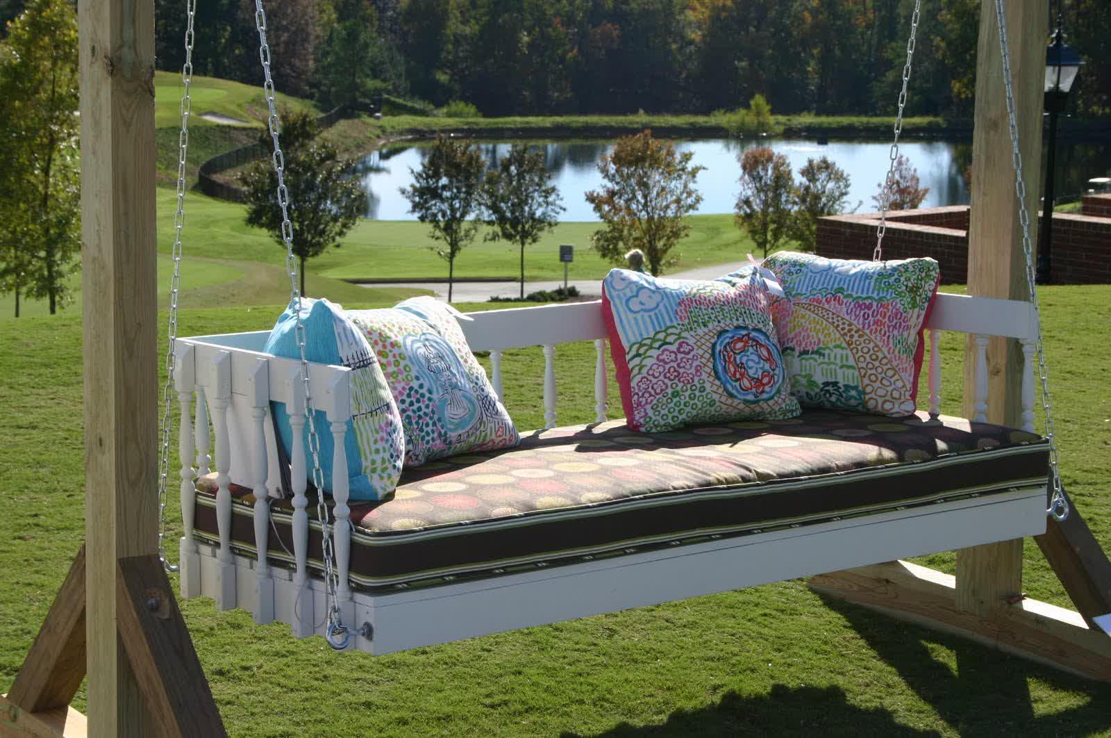 Image of: Great Modern Porch Swing
