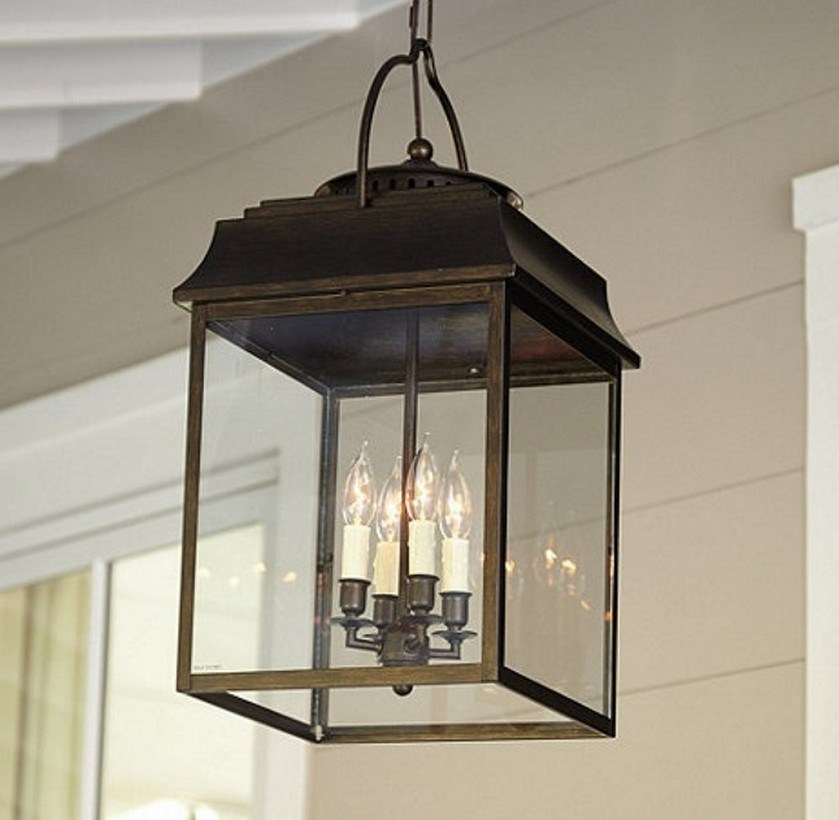 Image of: Hanging Ceiling Mount Porch Light