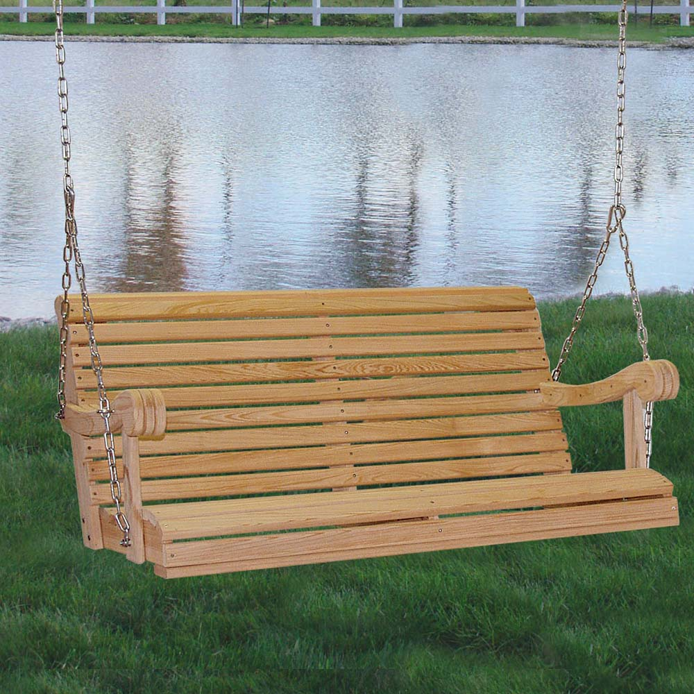 Image of: Hanging Cypress Porch Swing