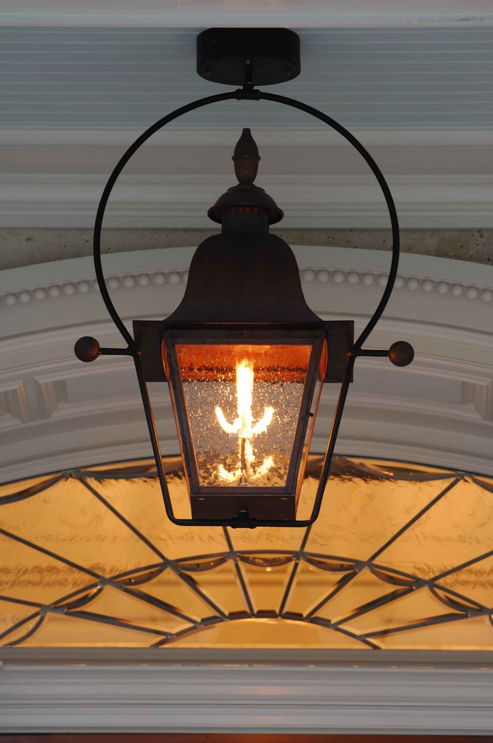 Image of: Hanging Gas Porch Light