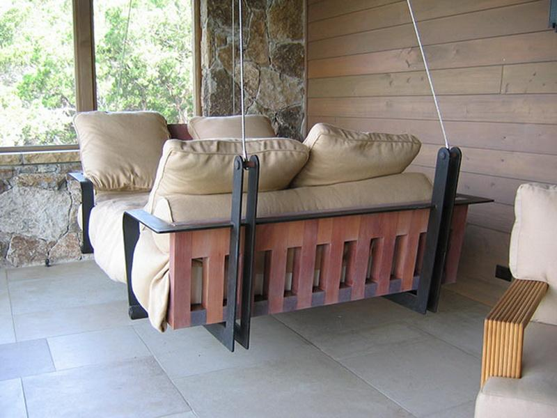 Image of: Hanging Modern Porch Swing