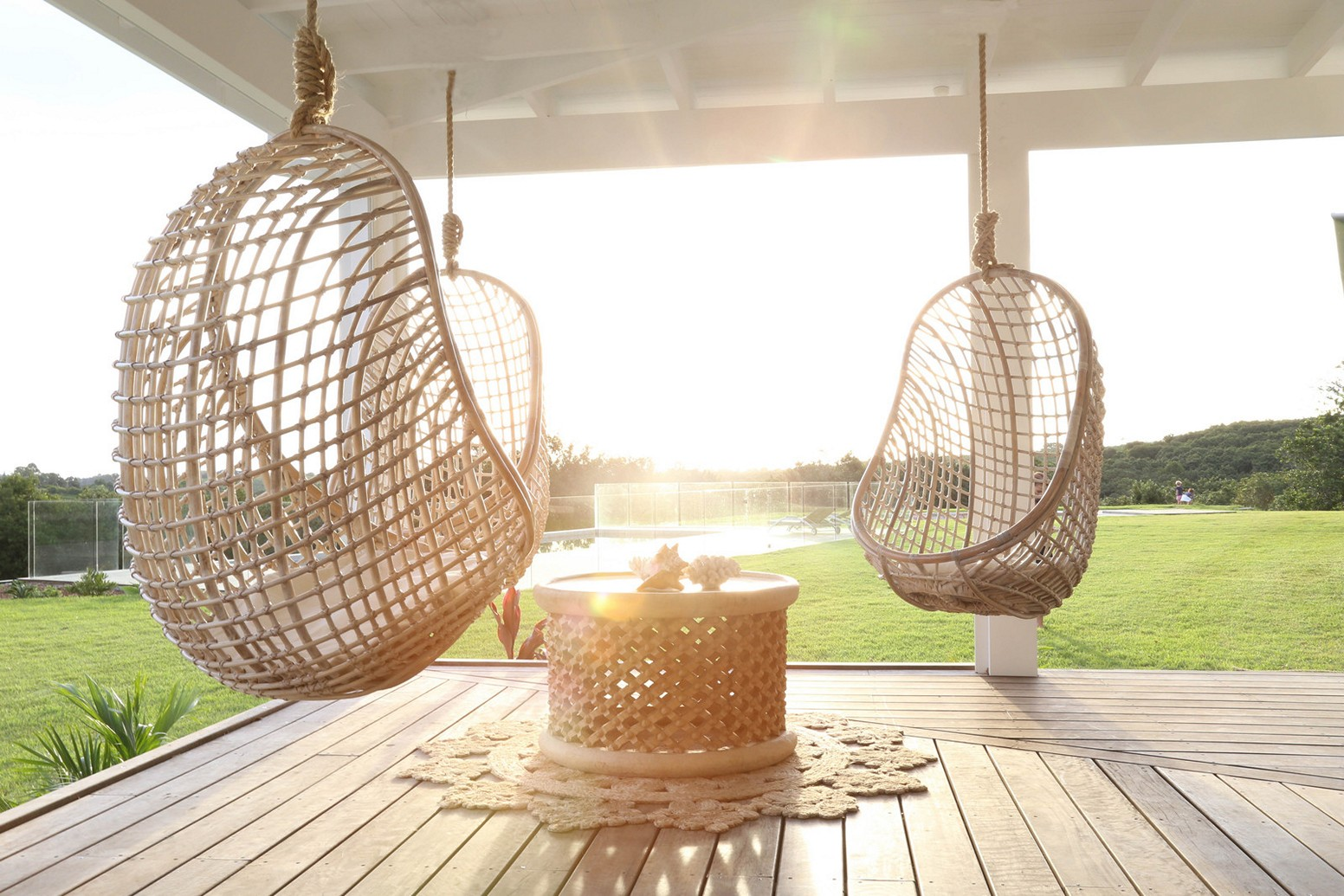 Image of: Hanging Porch Chair Designs