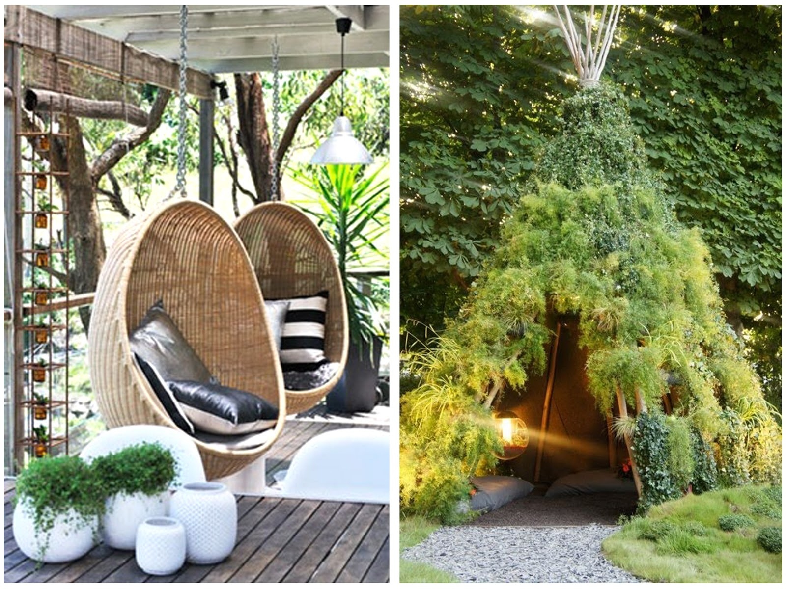 Image of: Hanging Porch Chair Ideas Garden