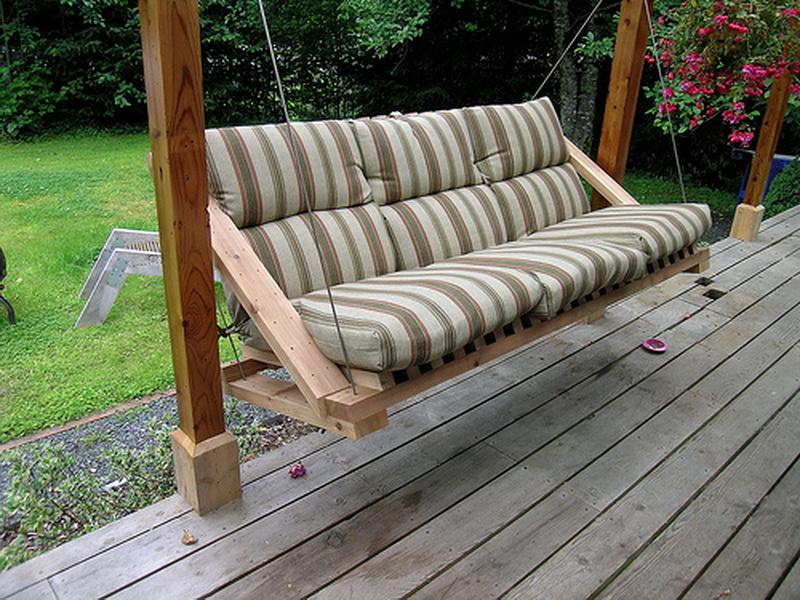 Image of: Hanging Porch Swings Outdoor