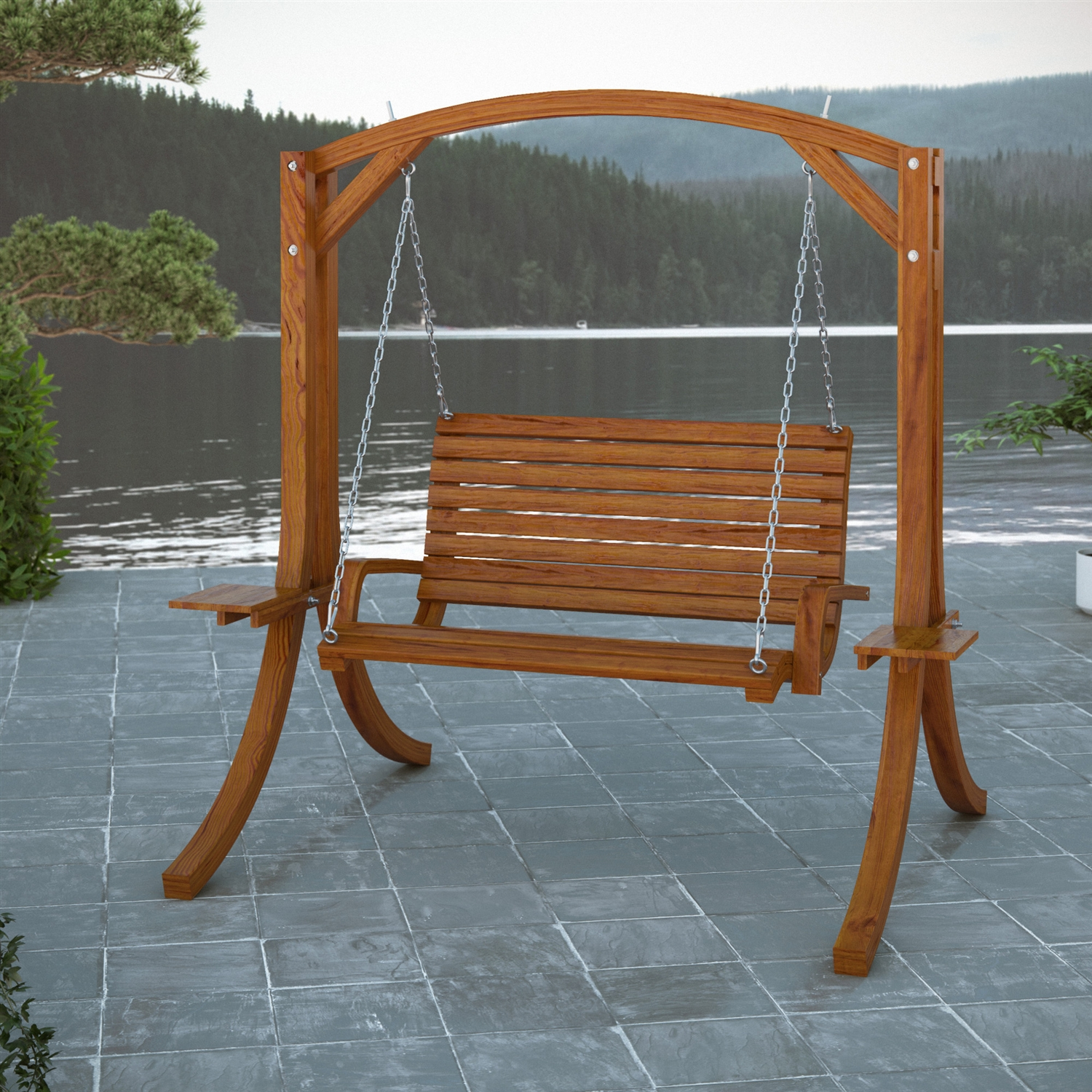 Image of: Heavy Duty Porch Swing Style