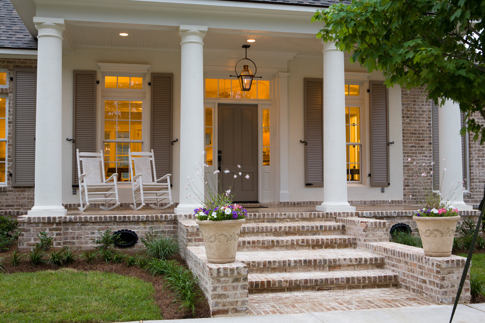 Image of: Home Front Porch Columns