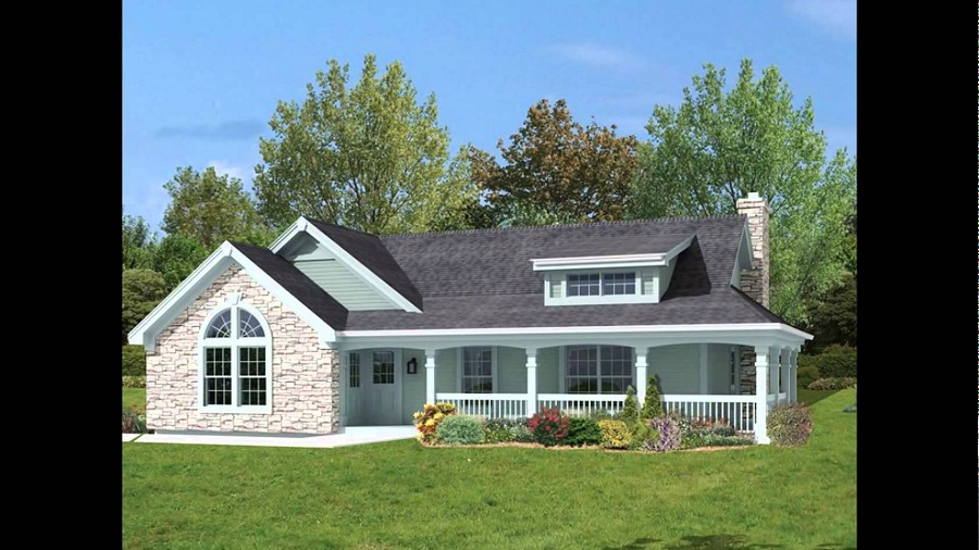 Image of: House Plans With Wrap Around Porches Furniture