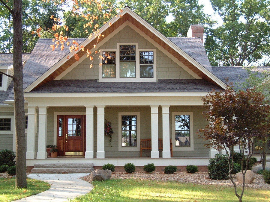 Image of: House Plans With Front Porches Furniture