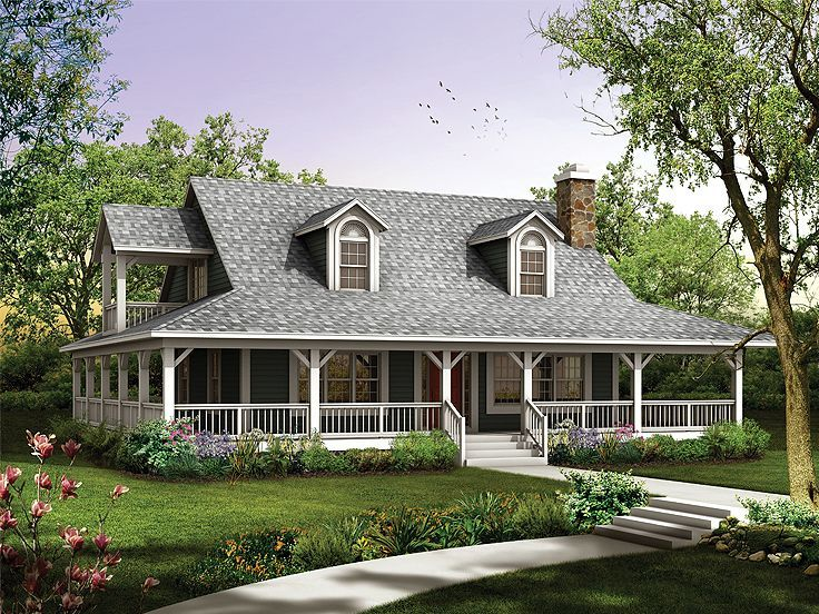Image of: Houses With Wrap Around Porches Plans