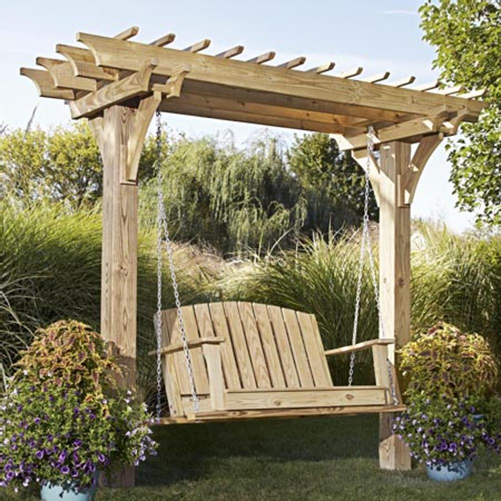 Image of: Ideas Cedar Porch Swing