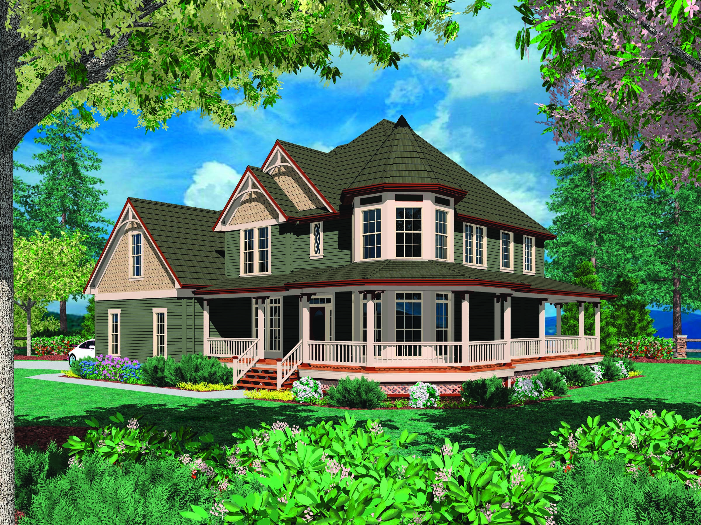 Image Farmhouse Plans Wrap Around Porch
