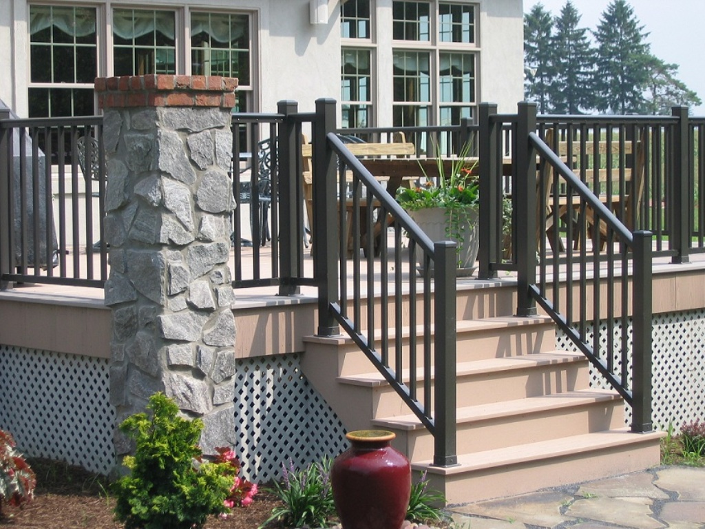 Image of: Image Metal Porch Railings