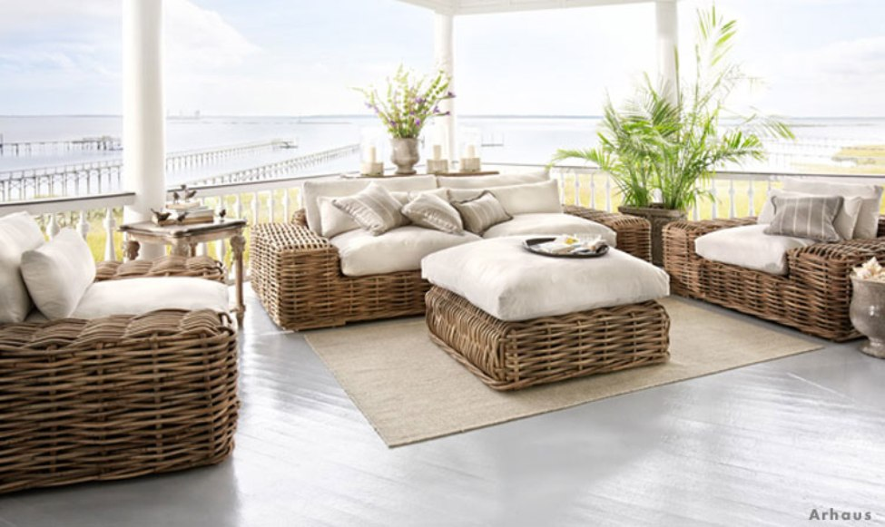 Image of: Indoor Porch Furniture Rattan