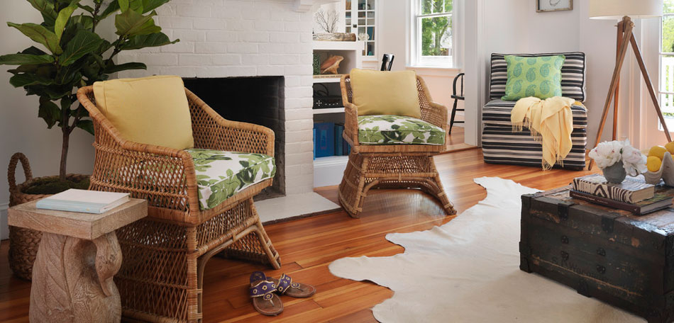 Image of: Indoor Porch Furniture Wicker