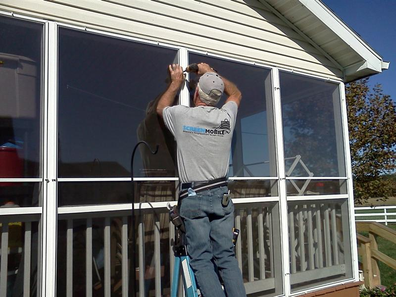Installing Acrylic Panels for Screened Porch