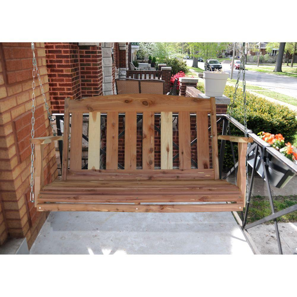 Image of: Interesting Cedar Porch Swing