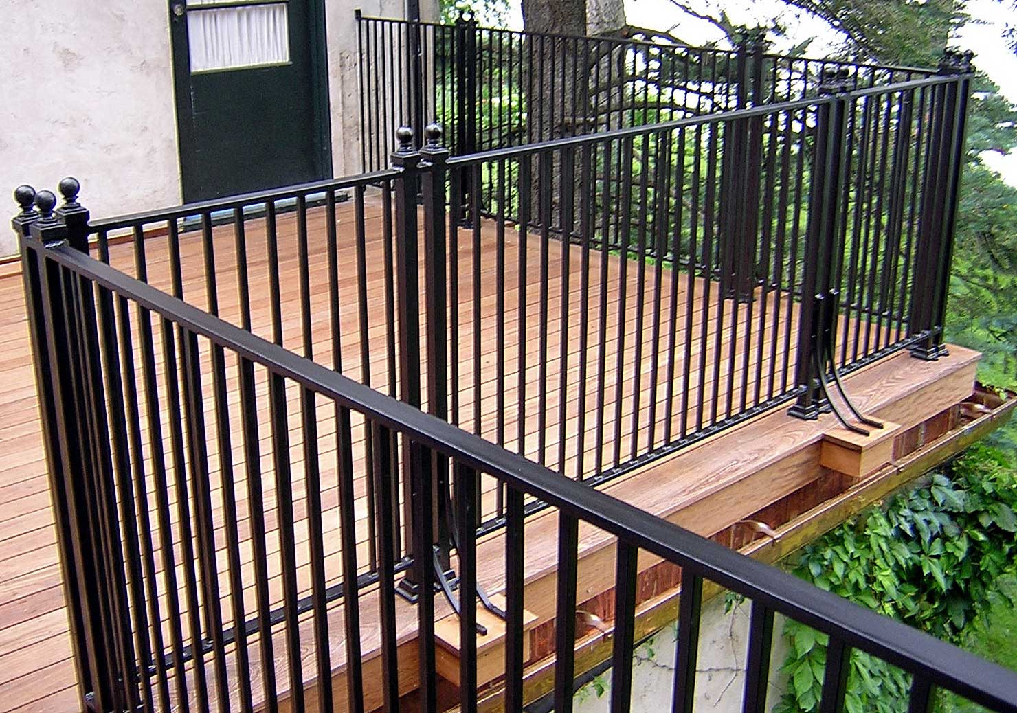 Image of: Iron Black Porch Railing