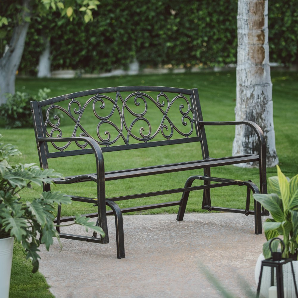 Image of: Iron Front Porch Benches