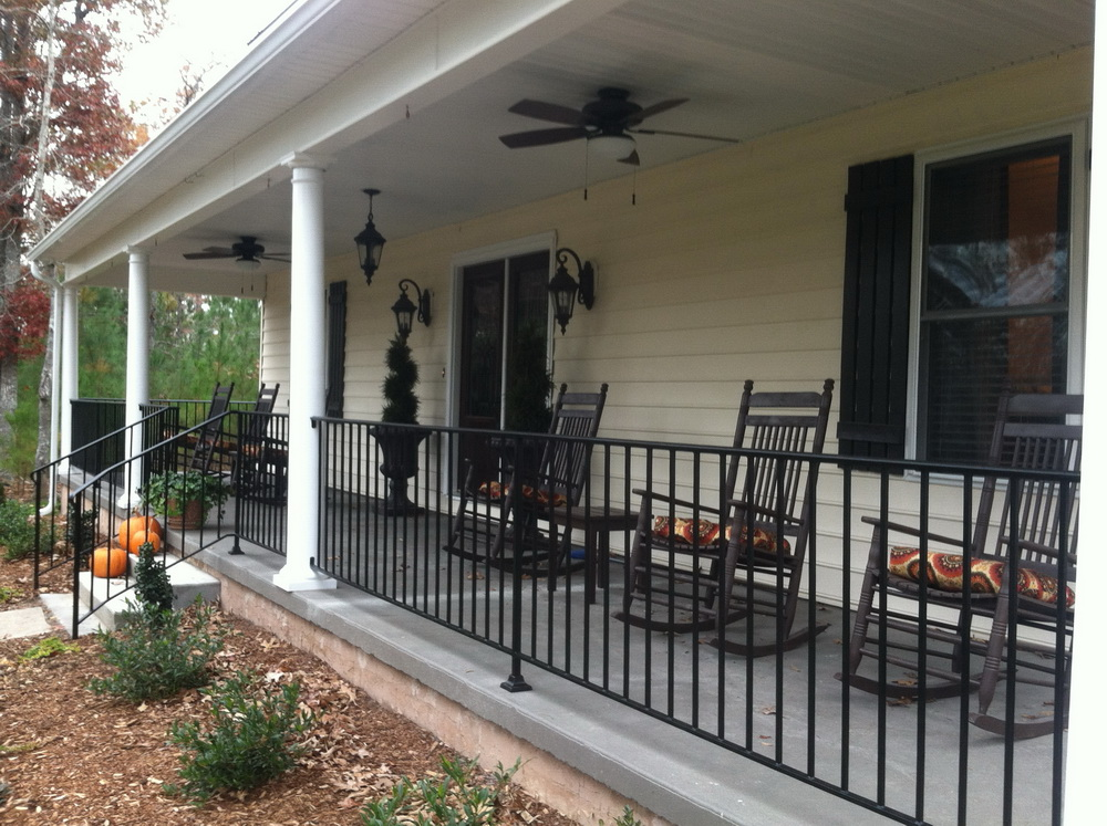 Image of: Iron Porch Railing Cost