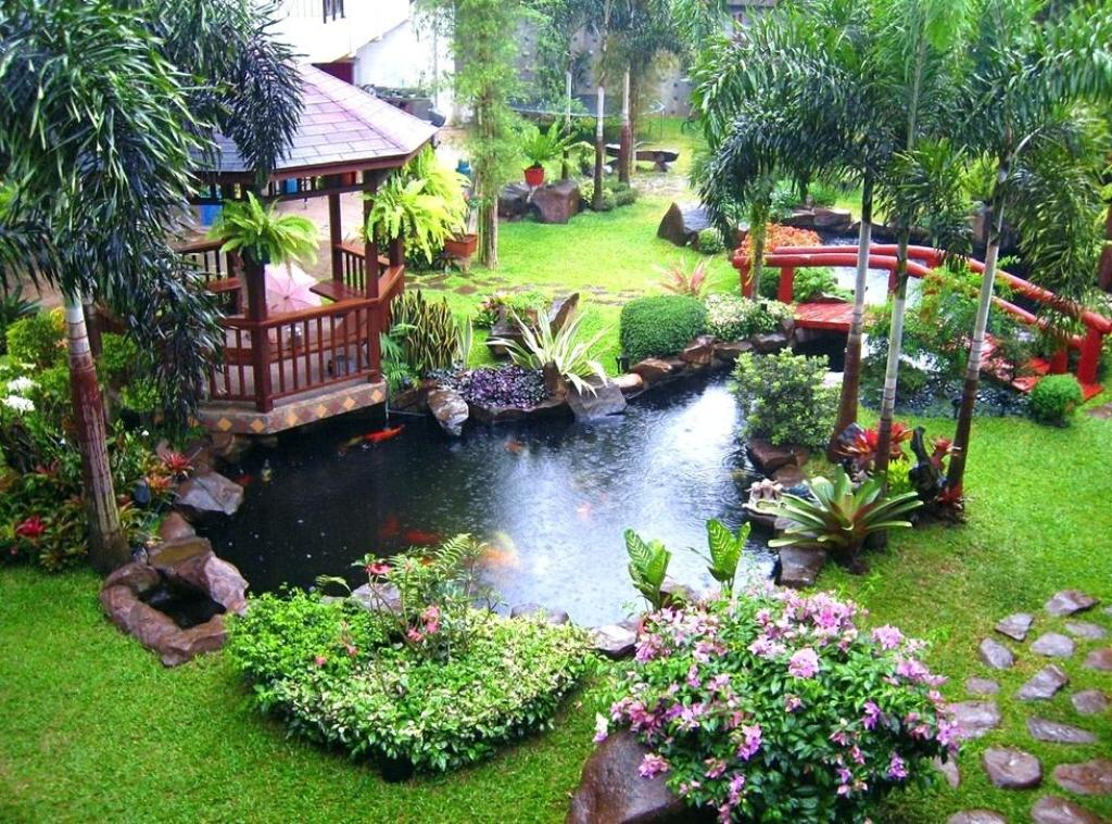 Image of: Koi Pond Landscaping Ideas