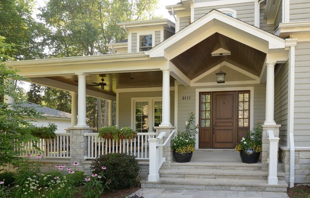 Image of: Large Front Porch Columns