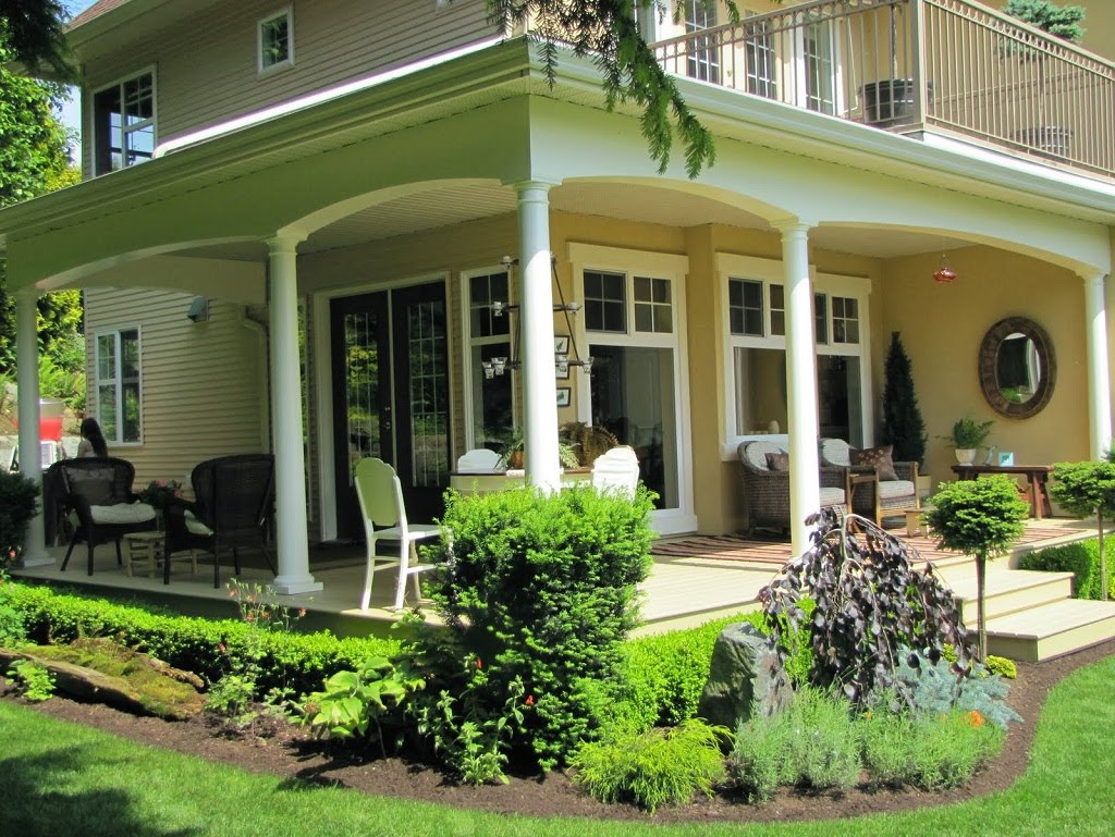 Image of: Large Front Porch Decorating Ideas