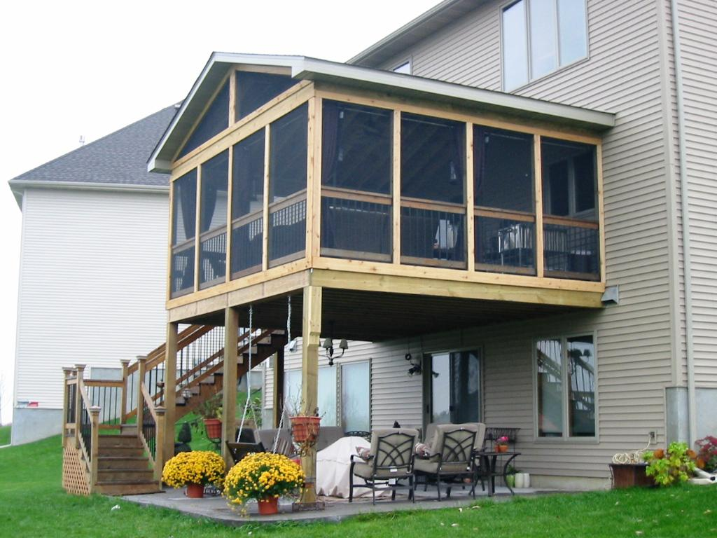 Image of: Large Screen Porch Designs