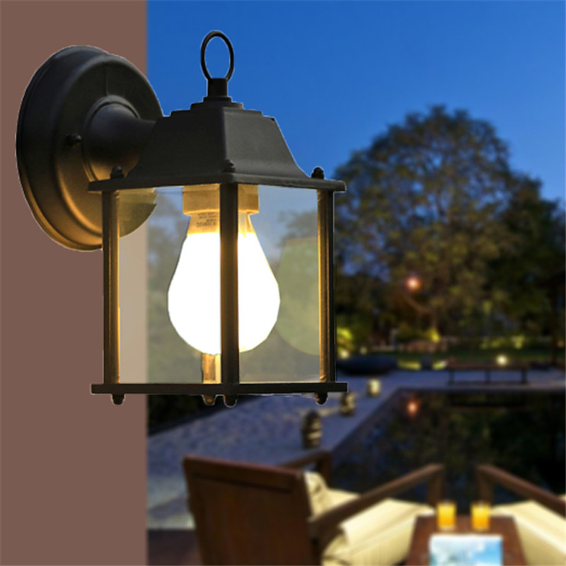 Image of: Led Black Porch Light