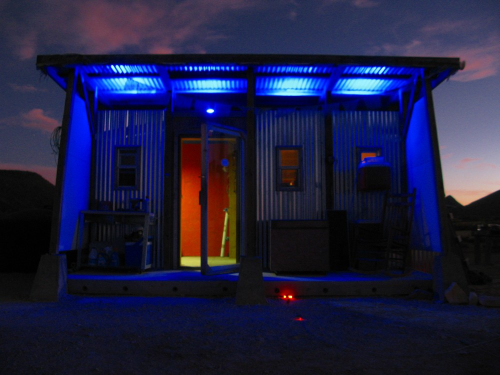 Image of: Led Porch Lights Blue