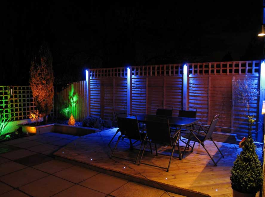 Image of: Led Porch Lights Colors