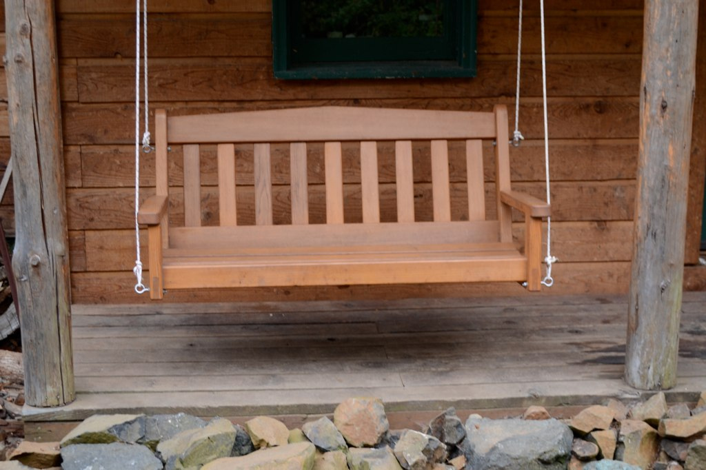 Image of: Log Porch Swing Invention