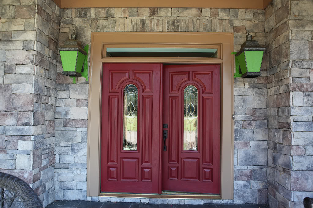 Image of: Makeover Front Porch Lights