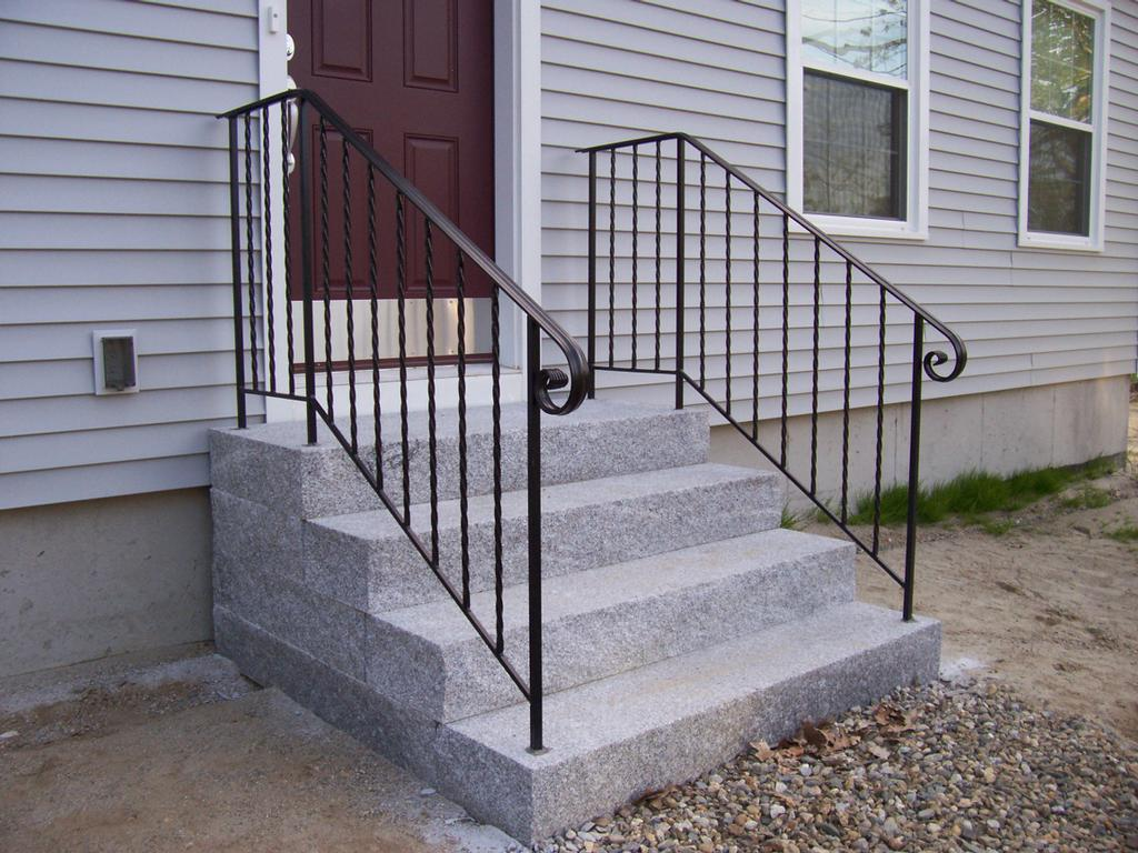 Image of: Metal Porch Railings Designs