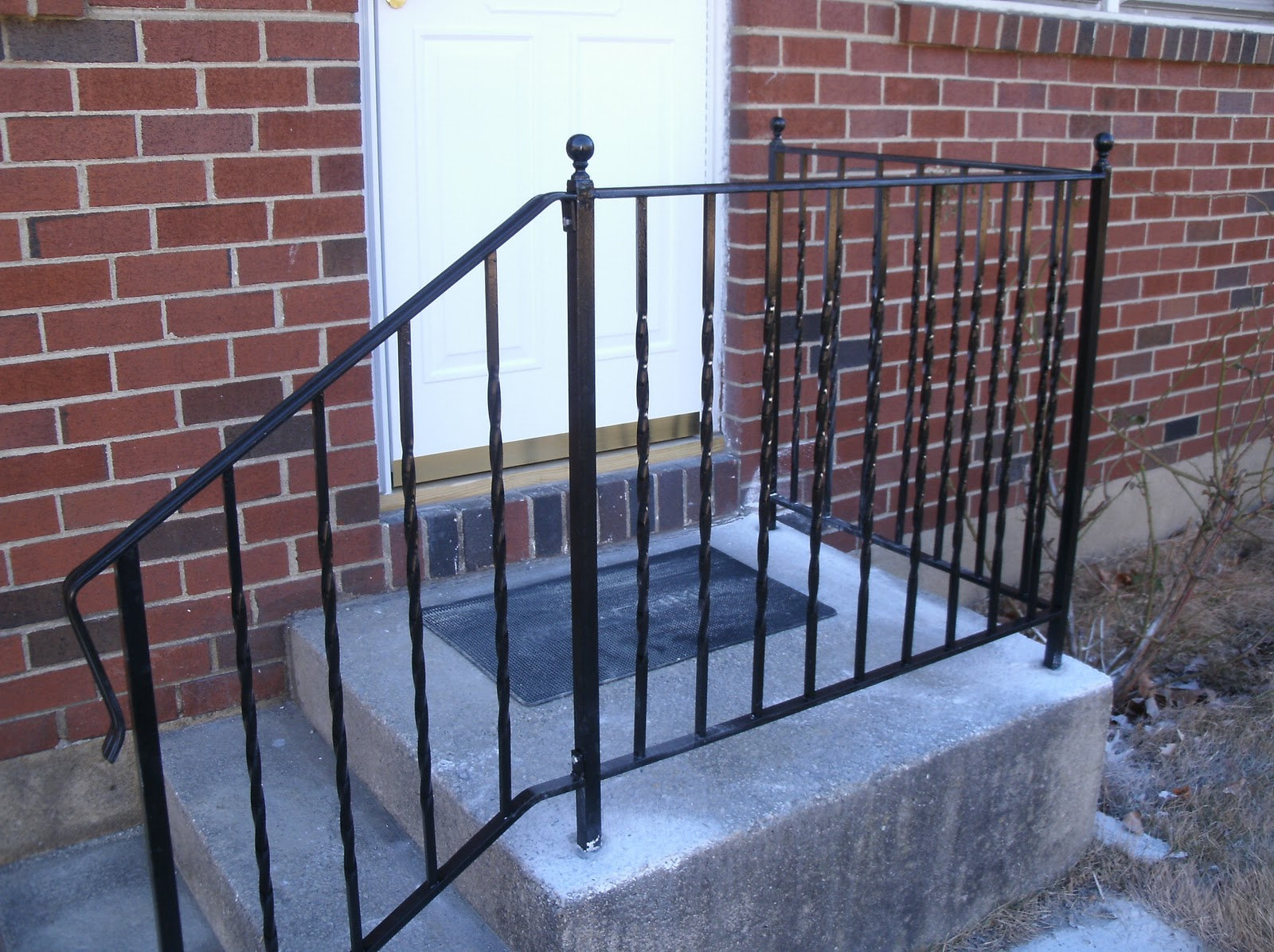 Image of: Metal Porch Railings Ideas