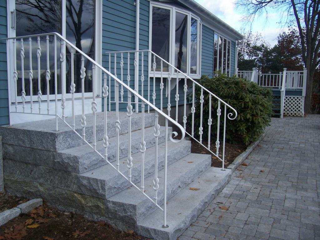 Image of: Metal Porch Railings