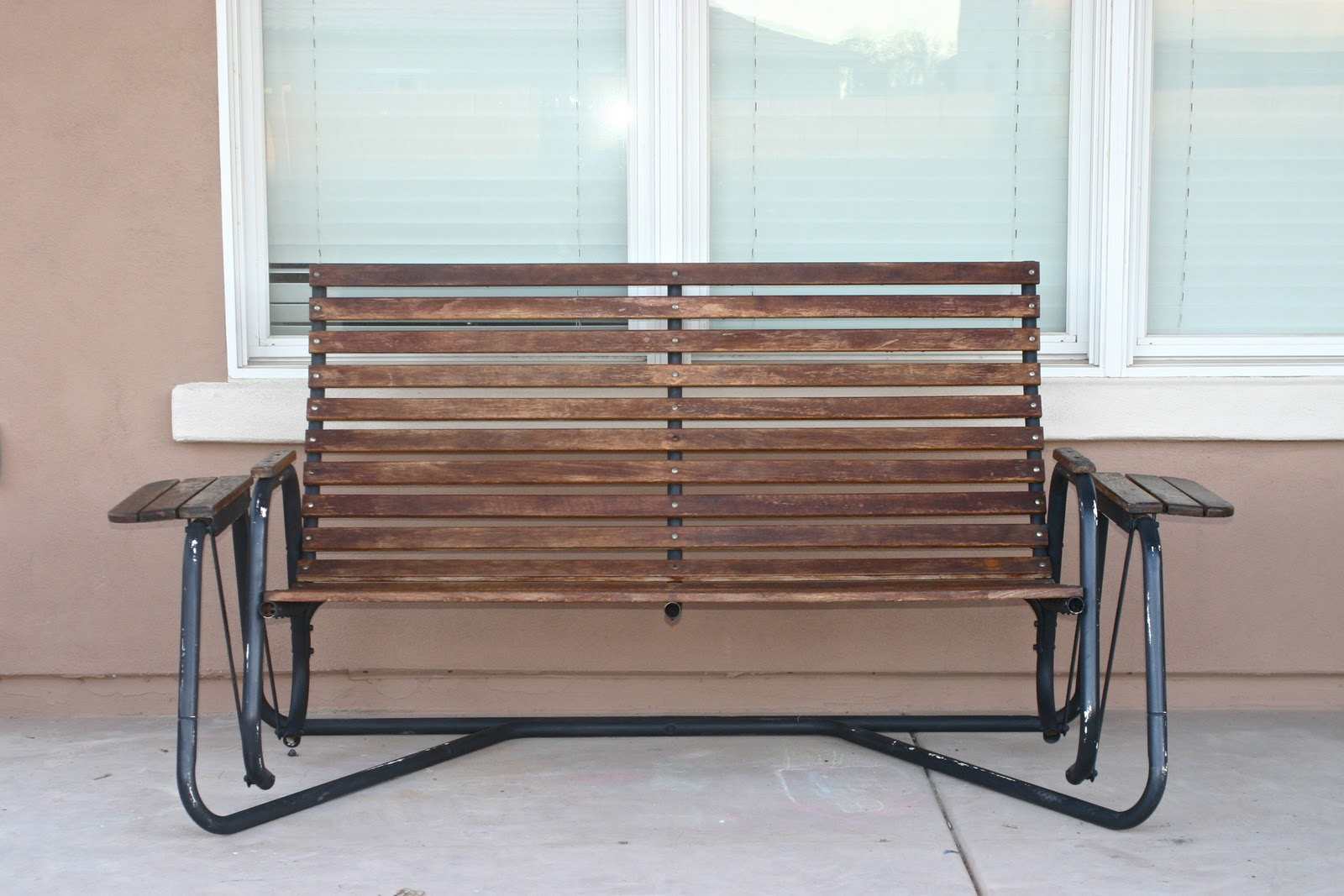 Image of: Metal Porch Swings Rocker