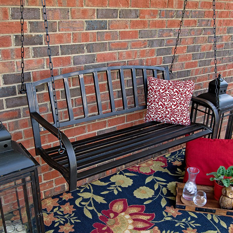 Image of: Metal Porch Swings Yard Swing