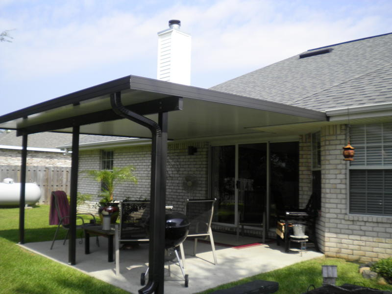 Image of: Modern Aluminum Porch Roof