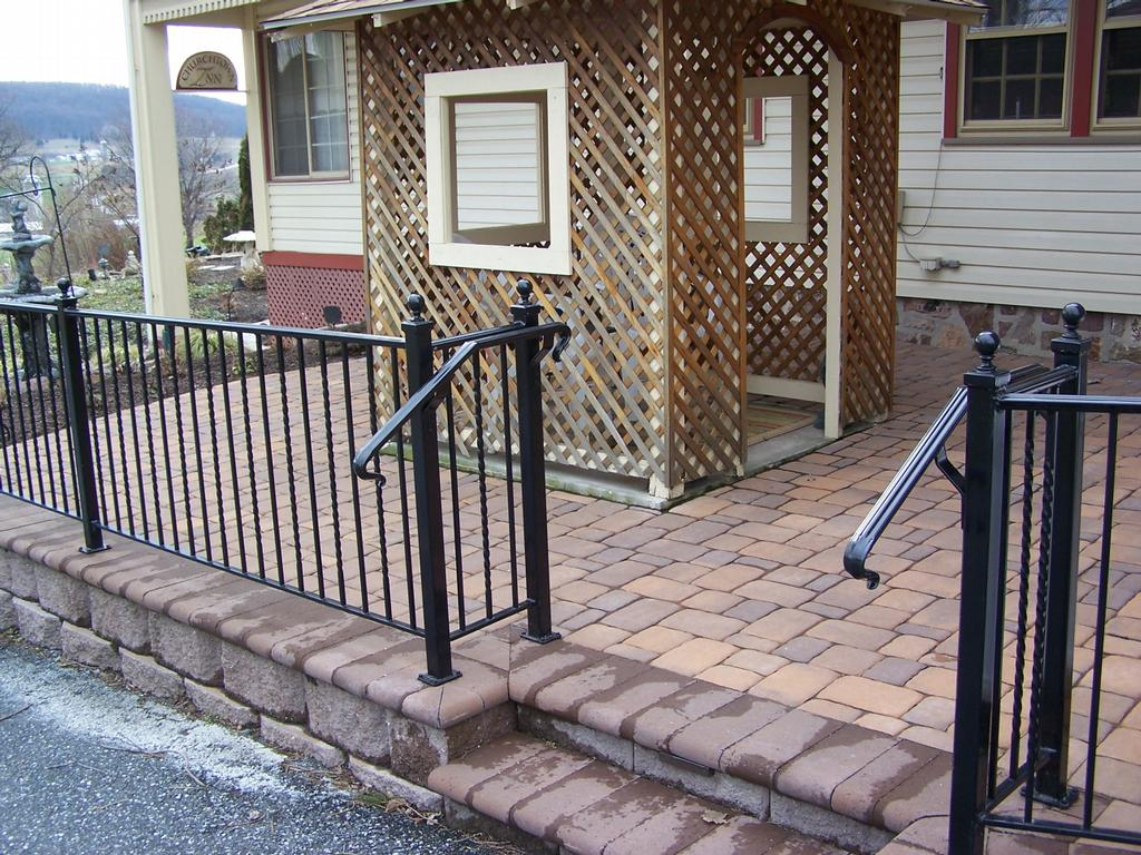 Image of: Modern Black Porch Railing
