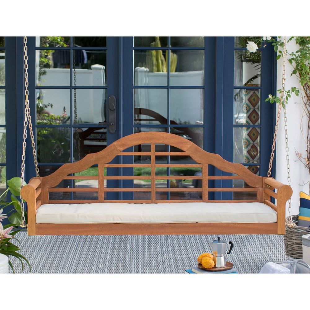 Image of: Modern Cedar Porch Swing