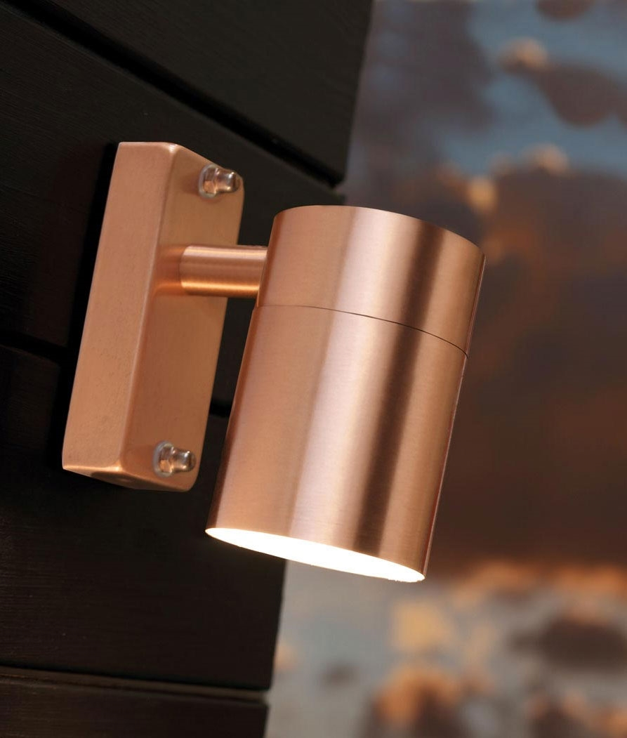 Image of: Modern Copper Porch Light