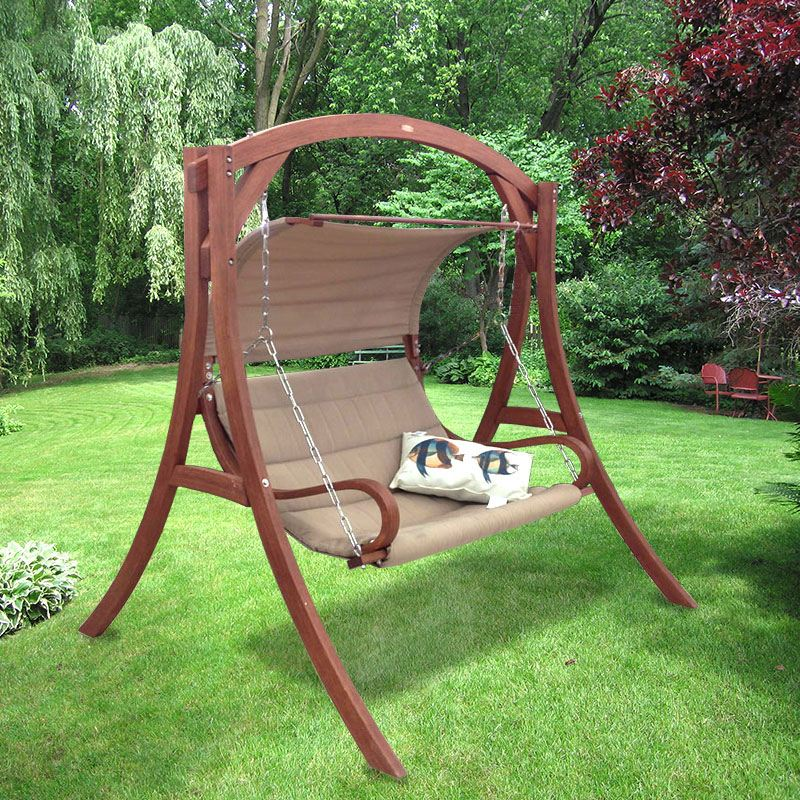 Image of: Modern Free Standing Porch Swing