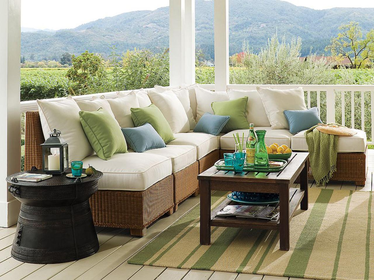 Image of: Modern Front Porch Furniture Sets