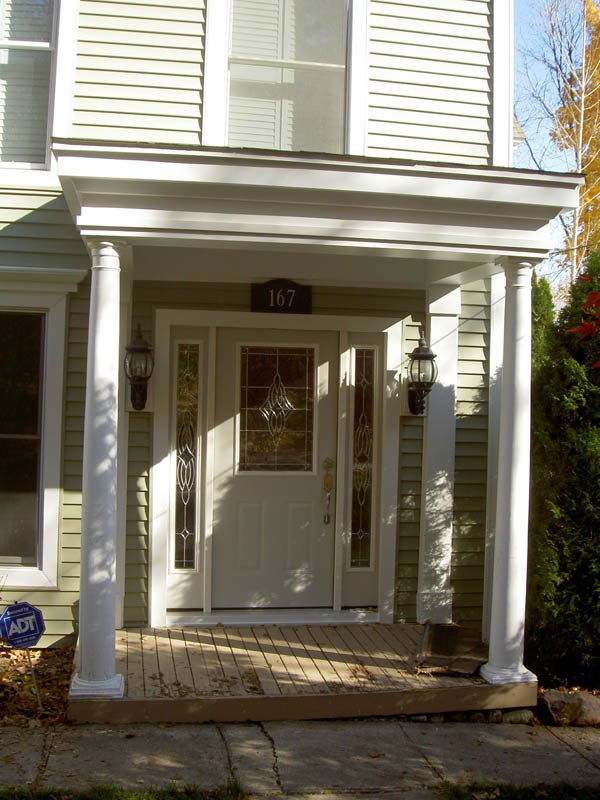 Image of: Modern Front Porch Pillars