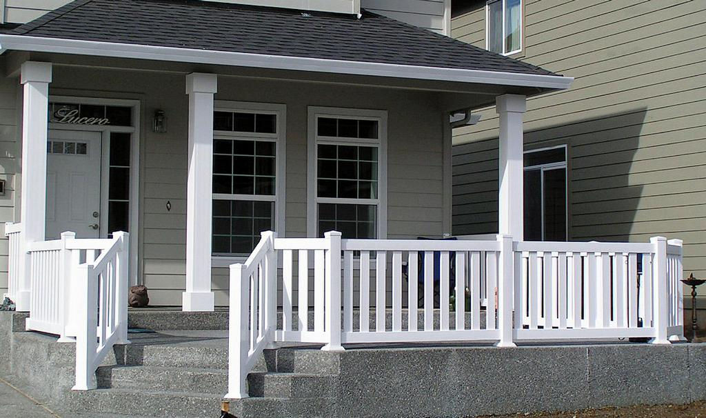 Image of: Modern Front Porch Railing Kit