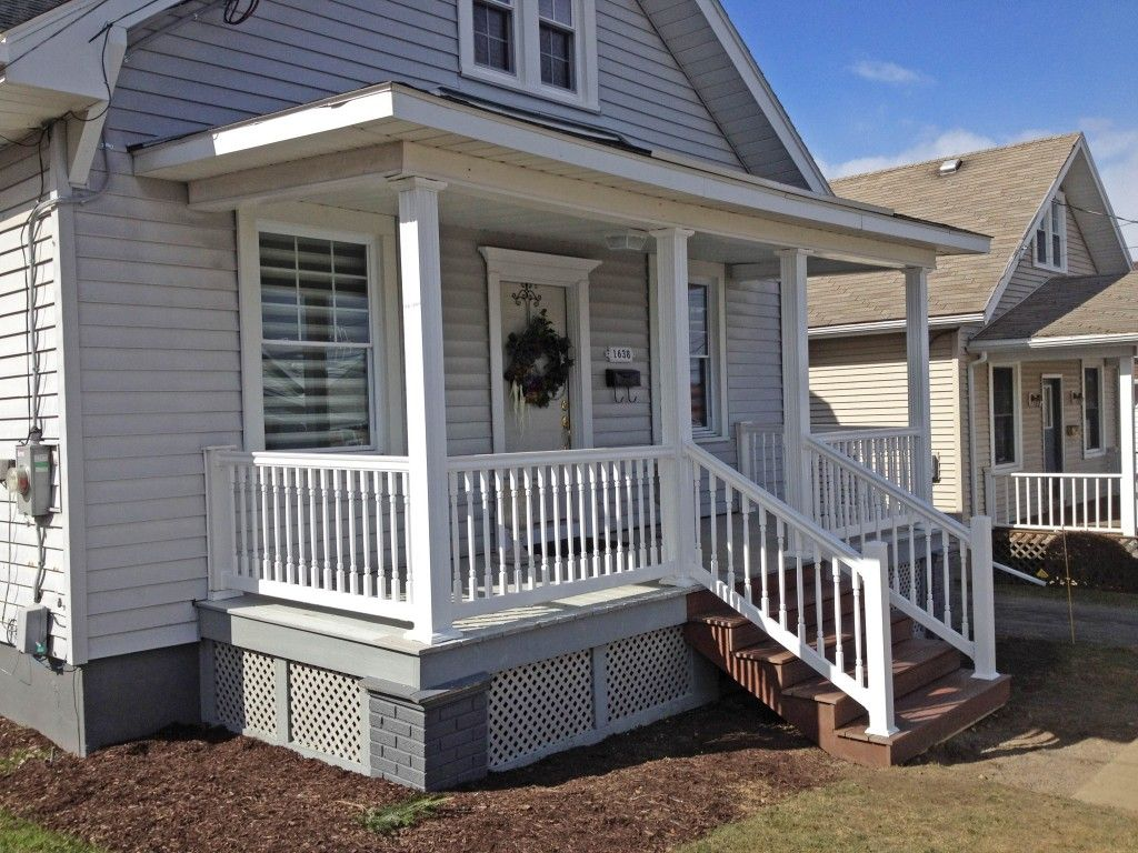 Image of: Modern Front Porch Railings