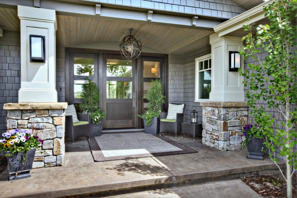 Image of: Modern Front Porches