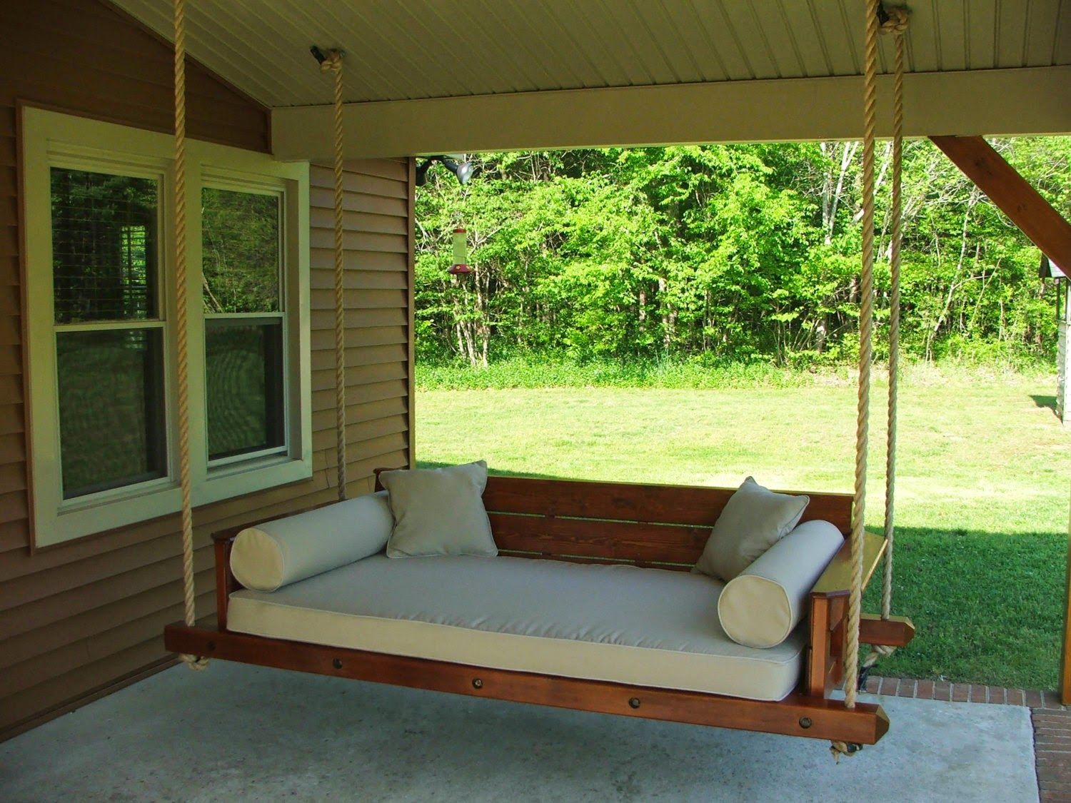 Image of: Modern Porch Swing Plan