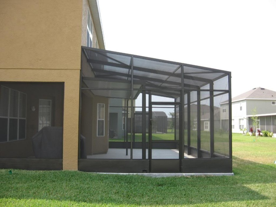 Image of: Modern Screened Porch Black