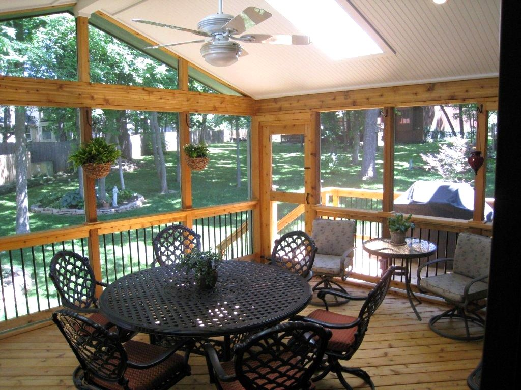 Image of: Modern Screened Porch Ideas